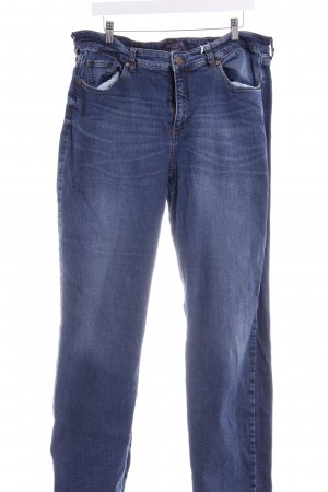 Mango Jeans coupe-droite bleu acier style décontracté