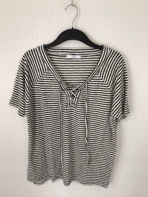 Mango T-shirt nero-bianco