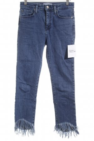 Mango Stretch Jeans blau Street-Fashion-Look