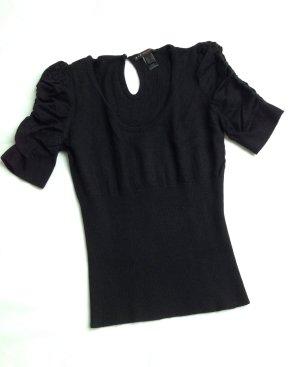 MANGO Strick Pullover Miss Shirt Top Puffärmel Sixty black – XS