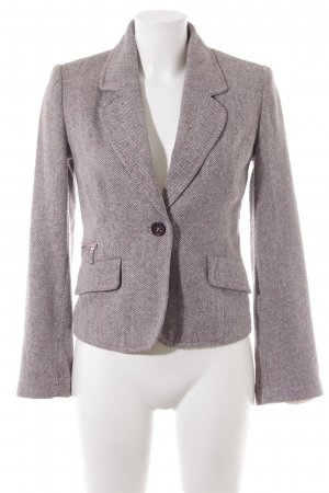 Mango Knitted Blazer herringbone pattern business style