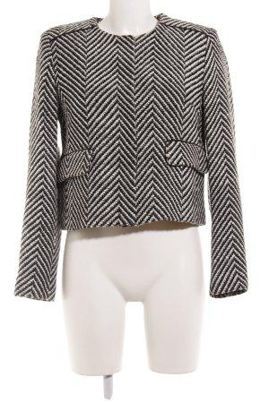 Mango Strickblazer schwarz-weiß Streifenmuster Business-Look