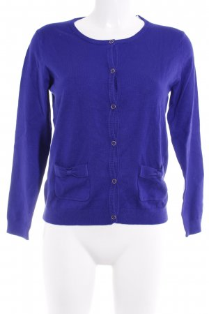 Mango Strickjacke blauviolett Business-Look