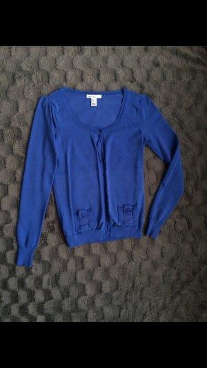 Mango Strickjacke Cardigan blau Gr S
