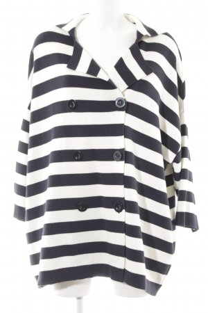 Mango Cardigan dark blue-natural white striped pattern casual look