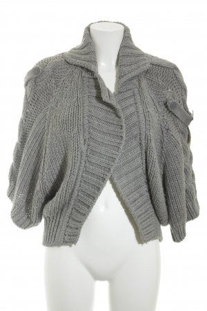 Mango Cardigan grey cable stitch classic style