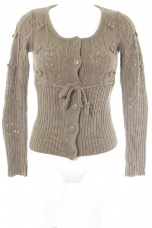 Mango Strickjacke hellbraun Casual-Look