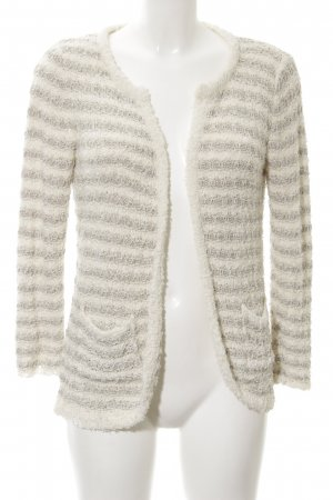 Mango Cardigan natural white-light grey striped pattern casual look
