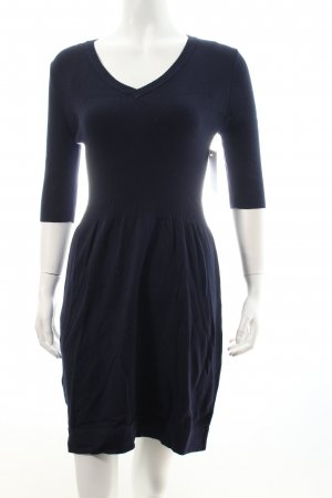 Mango Strickkleid dunkelblau Casual-Look