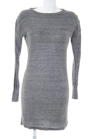 Mango Robe en maille tricotées gris moucheté pailleté