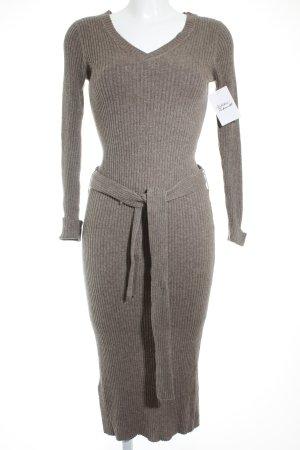 Mango Robe en maille tricotées gris brun style décontracté