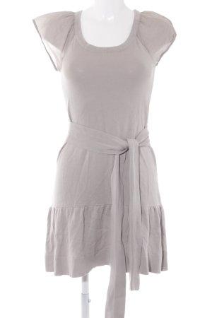 Mango Gebreide jurk lichtgrijs simpele stijl