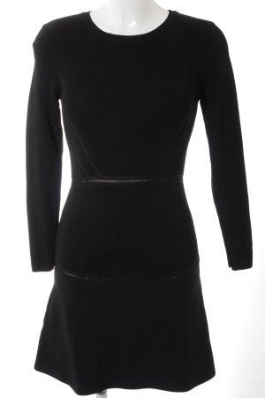 Mango Gebreide jurk zwart casual uitstraling
