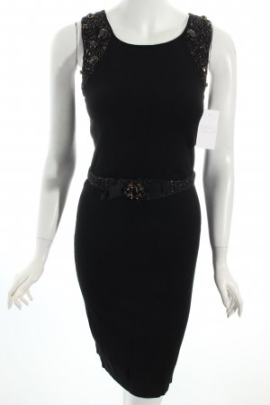 Mango Knitted Dress black-gold-colored synthetic