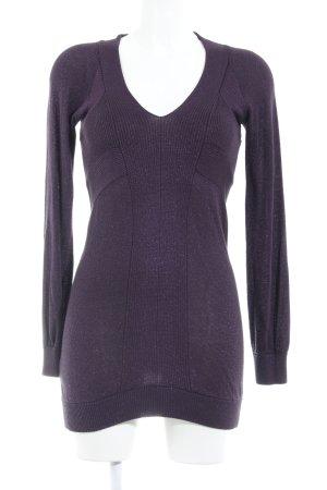 Mango Knitted Dress black-violet elegant