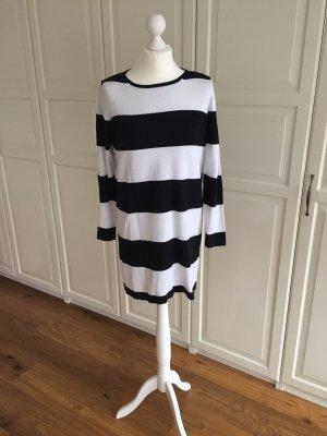 Mango Gebreide jurk zwart-wit