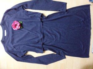 Mango Robe en maille tricotées bleu foncé coton