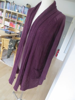Mango Manteau en tricot violet-bordeau tissu mixte