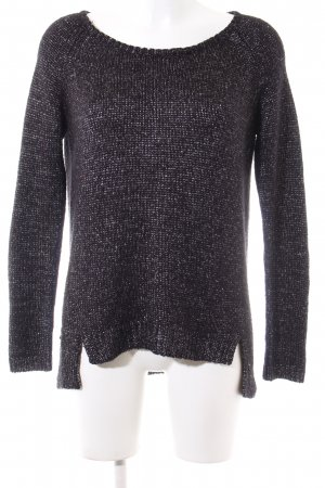Mango Knitted Sweater black-silver-colored allover print casual look