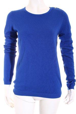Mango Strickpullover blau Casual-Look