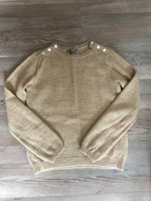 Mango Kraagloze sweater beige Gemengd weefsel