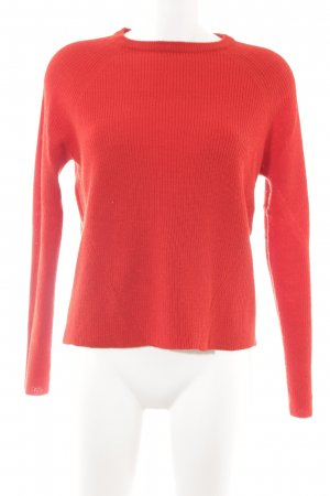 Mango Knitted Sweater red casual look