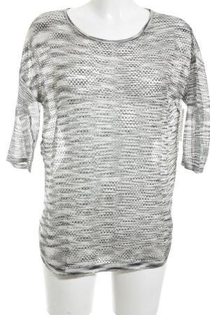 Mango Strickpullover schwarz-grau Farbverlauf Casual-Look
