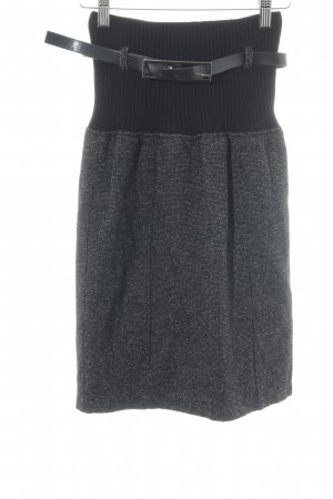 Mango Knitted Skirt black flecked casual look