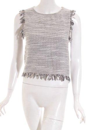 Mango Knitted Top white-black Boho look