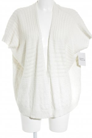 Mango Knitted Vest cream loosely knitted pattern casual look