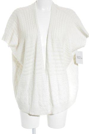 Mango Smanicato lavorato a maglia crema Motivo a maglia leggera stile casual