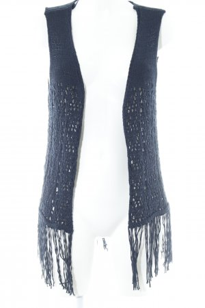 Mango Knitted Vest dark blue casual look