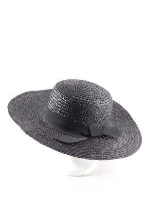 Mango Straw Hat black casual look