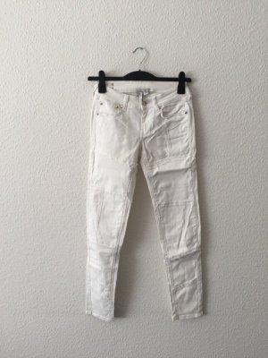Mango studded Jeans weiß 38