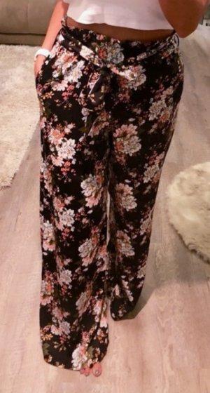 Mango Pantalone culotte nero-color oro rosa