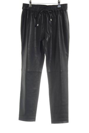 Mango Suit 7/8 Length Trousers black biker look