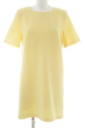 Mango Suit A-Linien Kleid blassgelb Webmuster Casual-Look