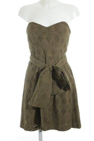 Mango Suit A-Linien Kleid olivgrün-khaki Elegant