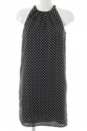 Mango Suit A-Linien Kleid schwarz-weiß Punktemuster Elegant