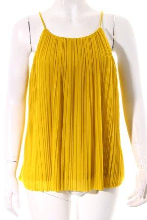 Mango Suit A-Linien Top dunkelgelb
