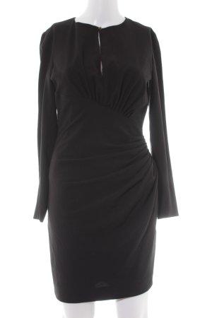 Mango Suit Abendkleid schwarz Wickel-Look