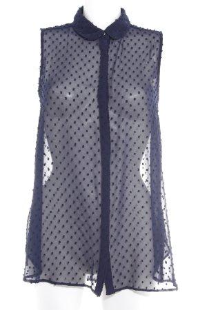 Mango Suit ärmellose Bluse dunkelblau Business-Look