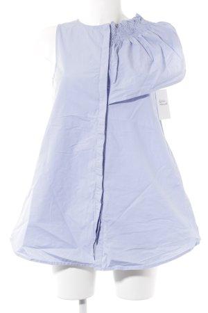 Mango Suit Mouwloze blouse azuur casual uitstraling