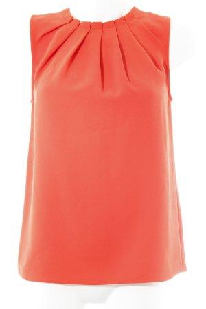 Mango Suit ärmellose Bluse neonorange Business-Look