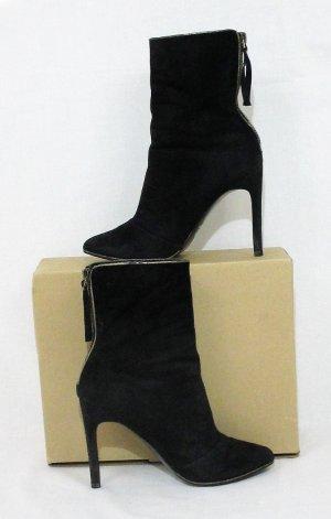 MANGO SUIT Ankle Boots-stiletto boots/Wildleder/schwarz