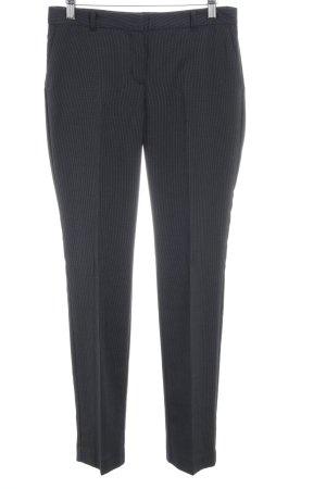 Mango Suit Pantalone da abito blu scuro gessato