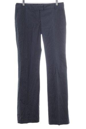 Mango Suit Pantalon de costume bleu foncé-blanc motif de tache
