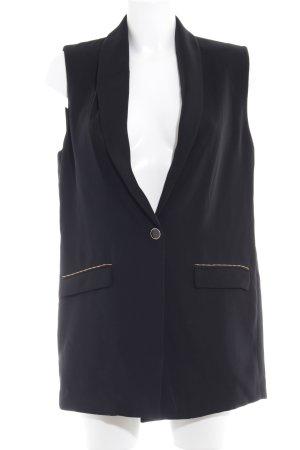 Mango Suit Chaleco de vestir negro elegante