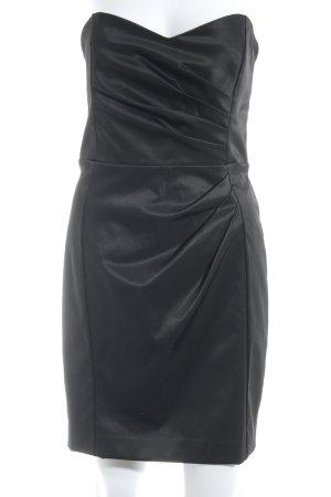 Mango Suit Bandeaukleid schwarz Elegant
