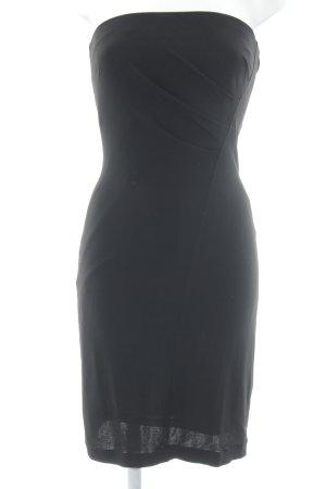 Mango Suit Bandeaujurk zwart klassieke stijl